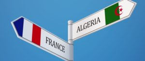 France Algeria High Resolution Sign Flags Concept